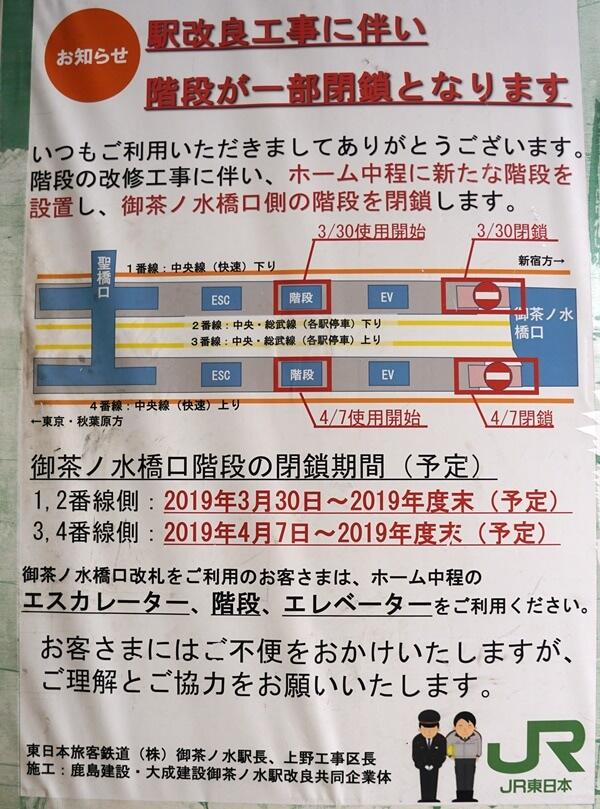 「御茶ノ水駅改良工事」 2020.1.26