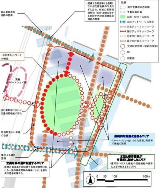 芝浦水再生センター地区の将来イメージ (出典:東京都都市整備局)