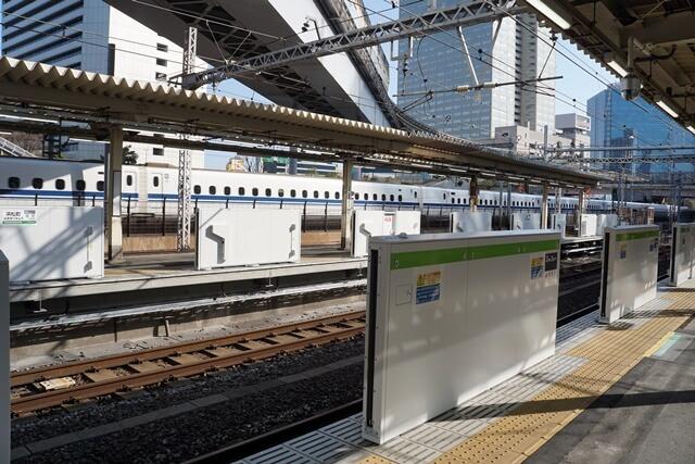JR浜松町駅 ホームドア設置工事 2020.2.24