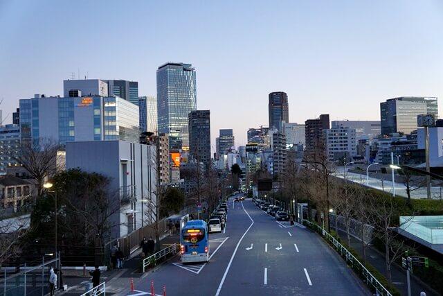 原宿から見た渋谷方面 2020.2.23