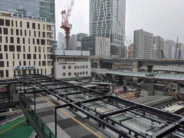 JR渋谷駅西口歩行者デッキ 2020.9.12