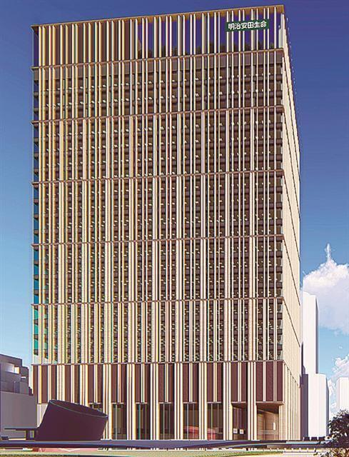 (仮称)西新宿一丁目地区プロジェクト イメージ図(出典:建設通信新聞)