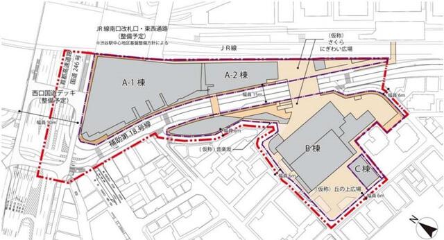 渋谷駅桜丘口地区第一種市街地再開発事業  (出典:東急不動産)
