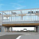 竹ノ塚駅新駅舎イメージ図 (出典:鹿島建設)