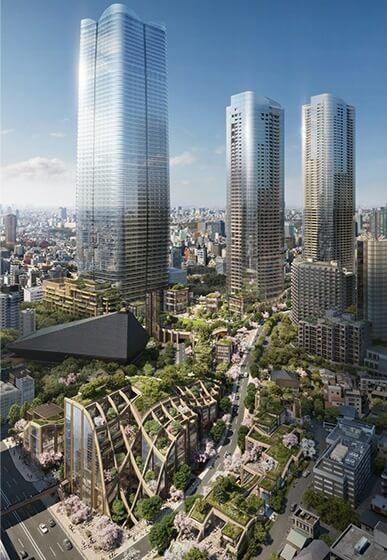 虎ノ門・麻布台地区第一種市街地再開発事業 (出典:森ビル)